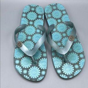 5161a85d945 UGG Flare Flip Flops SZ 9 Blue Gray Soft Rubber